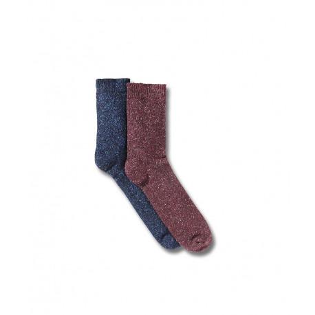 5bb45424c6a11 En lot de 2 paires de chaussettes en laine et soie. Lot de 2 ISSA